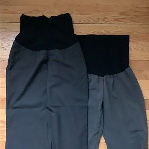 Two pairs maternity grey dress pants!